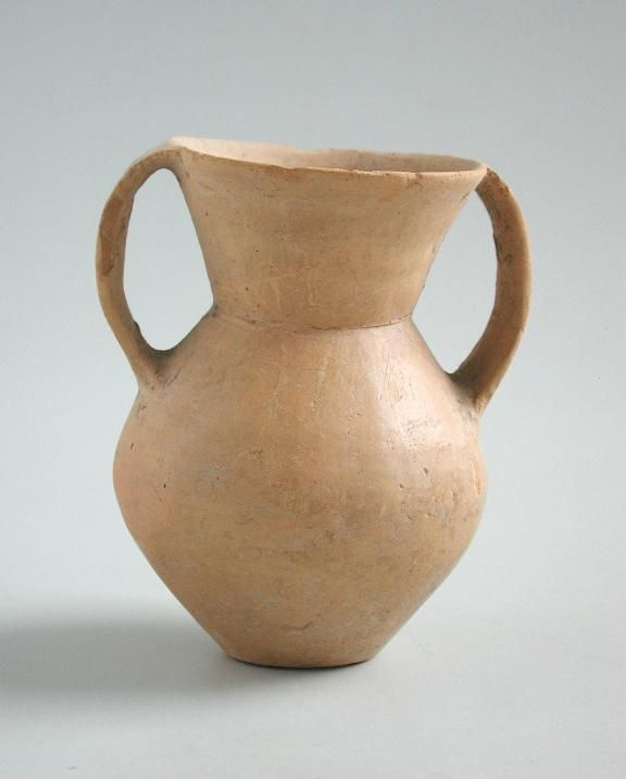 Chinese Neolithic Twin-Handled Pottery Jar - Qijia Culture