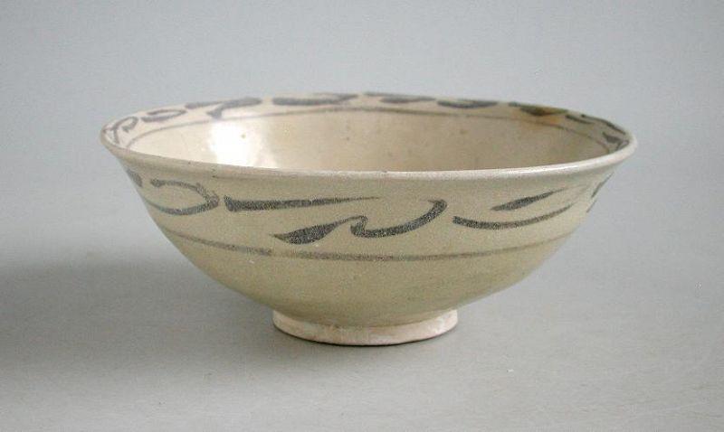 Vietnamese 14th Century Underglazed Bowl