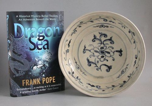 Vietnamese 15th Century Blue & White Dish - Hoi An Hoard (with book)