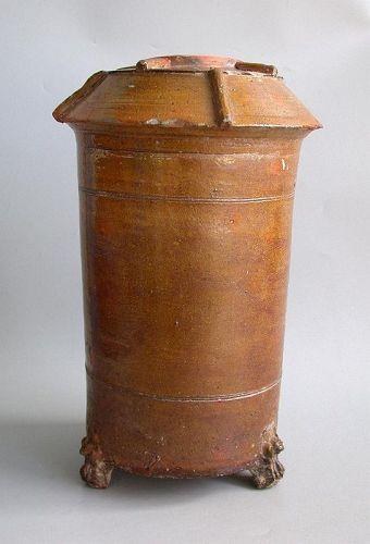 SALE Fine Large Chinese Han Dynasty Glazed Granary Jar