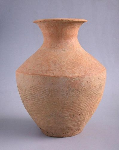 SALE Large Chinese Neolithic Impressed Pottery Jar - Caiyuan Culture
