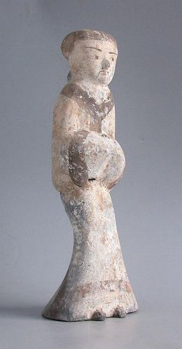 SALE Fine Chinese Western Han Dynasty Painted Pottery Figure