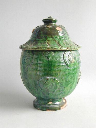 SALE Fine Large Chinese Song / Yuan Dynasty Glazed Buddhist Jar