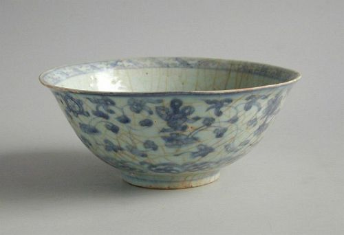 SALE Chinese Ming Dynasty Blue & White Porcelain BowlPrecious Objects