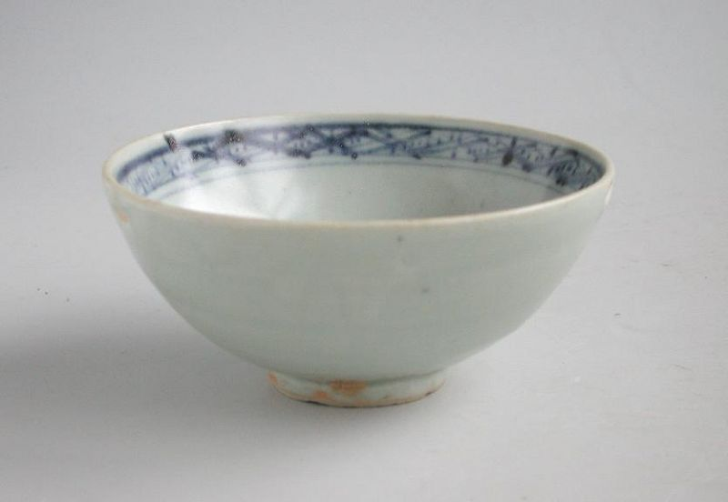 Chinese Ming Dynasty Blue & White Porcelain Bowl (16th Century)