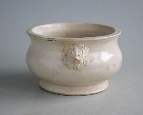 Chinese 17th Century Dehua / Blanc de Chine Porcelain Lion-Mask Censer