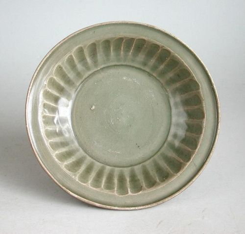 Chinese Song Dynasty Longquan Celadon Porcelain Dish