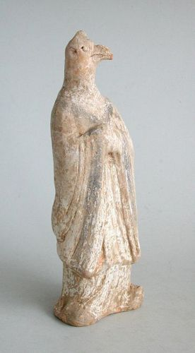 Chinese Tang Dynasty Painted Pottery Zodiac Figure - Chicken