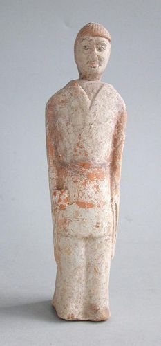 Chinese Northern Wei Dynasty Painted Pottery Figure (AD 386 - 534)