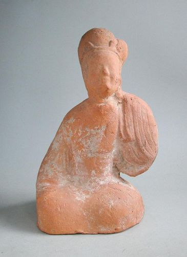 Chinese Eastern Han Dynasty Sichuan Pottery Female Entertainer