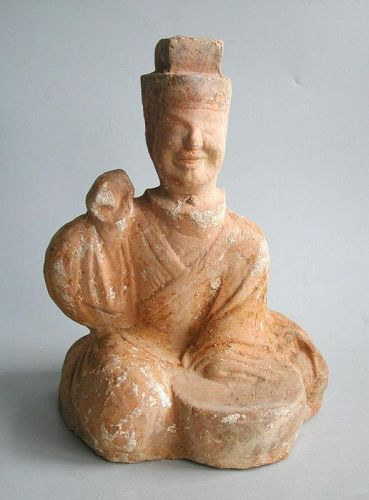 Fine Chinese Eastern Han Dynasty Pottery Musician / Entertainer