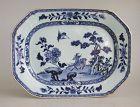 Large Chinese 18th Century Blue & White Porcelain Dish / Platter -Deer