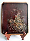 Large Chinese or Ryukyuan Lacquer Tray 17/18th. century