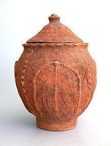 Rare Chinese Song Dynasty Buddhist Lotus Leaf Jar
