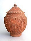 Rare Chinese Song Dynasty Buddhist Lotus Leaf Jar