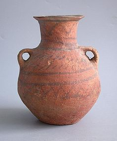 Rare Chinese Neolithic Painted Pottery Bottle - Machang