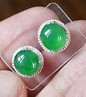 Absolutely Superb Apple Green Grade A Jadeite  Pair 5.77ct GIA Tested