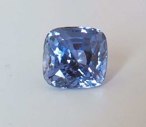 Beautiful Blue Violet Unheated Sapphire 7.02ct GIA Certificate