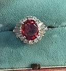 Gorgeous 2.90ct Burma Spinel Platinum Ring GIA