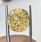 Magnificent Unheated Yellow Sapphire 18.53ct GRS Certificate