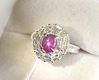 Stunning 1.41ct Burma Star Ruby Platinum & Diamond Ring