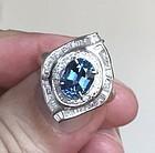 Exquisite 2.66ct Blue Sapphire & Diamond Platinum Ring