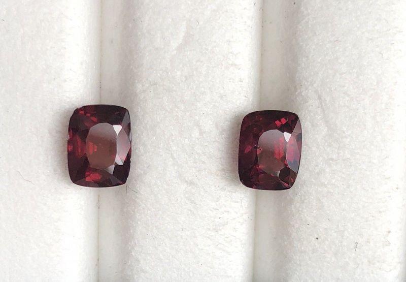 Exquisite & Rare Burma Rhodolite Garnet Pair 2.43ct