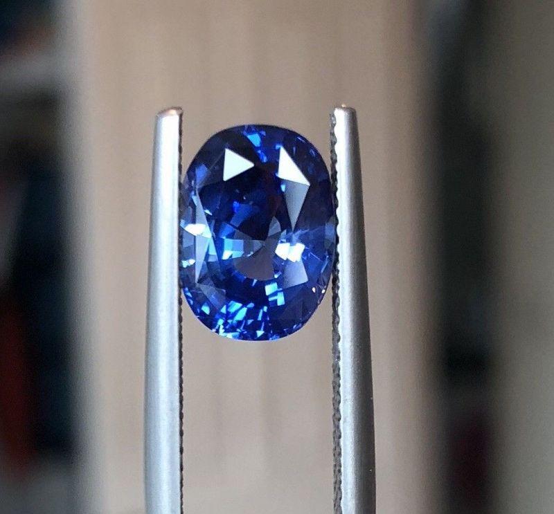 Stunning Unheated 3.73ct Blue Sapphire GIA Certificate
