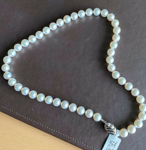 Impressive 8.50-9.00mm Japanese Akoya Pearl Necklace