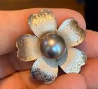 Stunning 12mm Black South Sea Pearl Designer Pendant