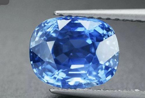 Stunning Unheated Burma 3.48ct Blue Sapphire Lotus Cert