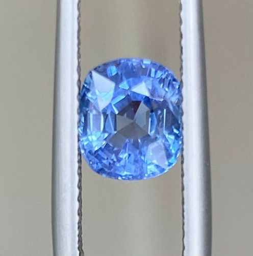 Stunning Unheated Burma 2.92ct Blue Sapphire Lotus Certificate