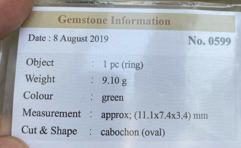 Very Pretty 5.19ct Green Grade A Burma Jadeite Jade Cabochon Pair