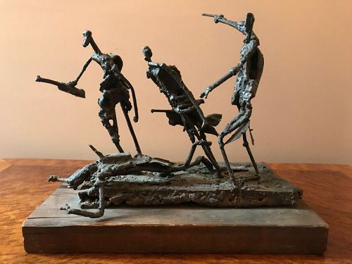 "Franklin E. Wurster Soldered Metal Sculpture, ""The Race"""