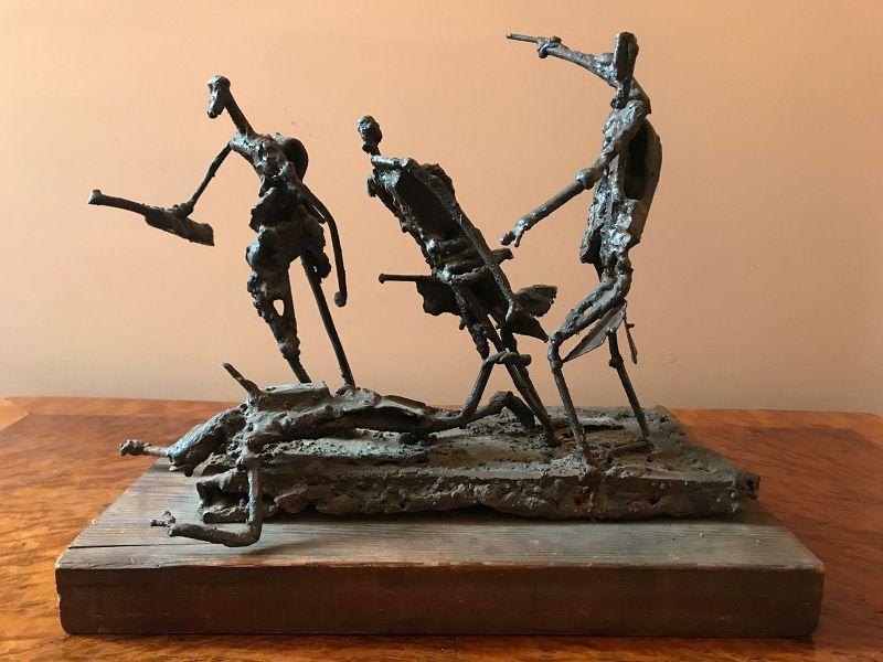 "Franklin E. Wurster Soldered Metal Sculpture, ""The Race"""