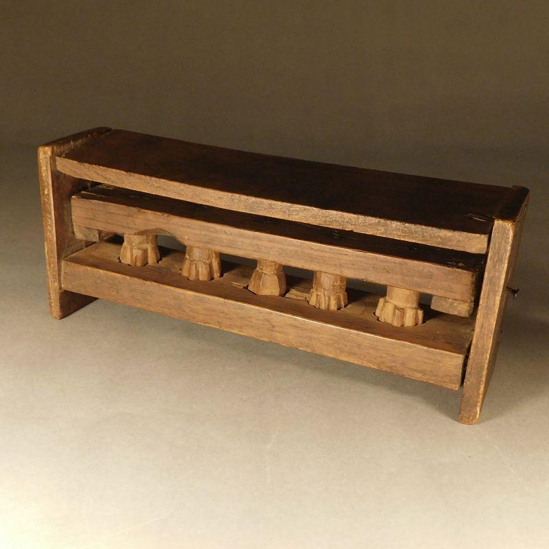 Asian Folk Art Wood Cookie Press - Japanese or Korean