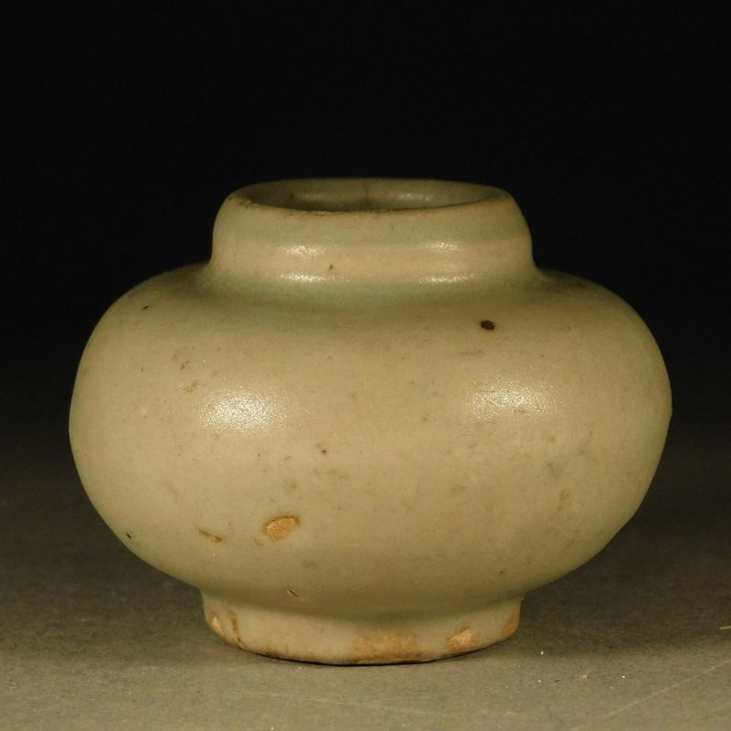 Small Chinese Late Song, Yuan Dynasty, Longquan Type Celadon Water Pot