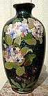 Japanese Cloisonne Vase signed Adachi Kinjiro