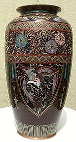 Japanese Cloisonne Kyoto Vase