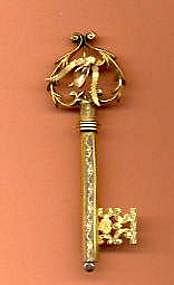 Victorian Key Brooch
