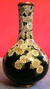 Japanese Cloisonne Chrysanthemum Vase - Namikawa