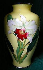 Japanese Cloisonne Vase signed Ando Jubei