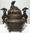 Japanese Bronze Koro