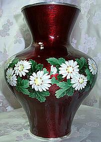 Ando Jubei Cloisonne Vase - Chrysanthemums
