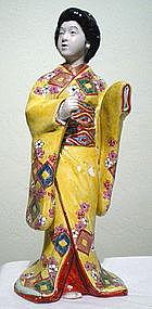 Imari Yellow Robed Standing Bijin