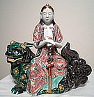 Porcelain Model of a Kanon Seated