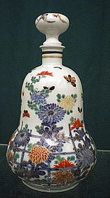 Hichozan Fukugawa Porcelain Bottle Vase