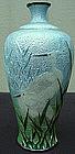 Basse-taille Cloisonne Cabinet Vase - Egrets