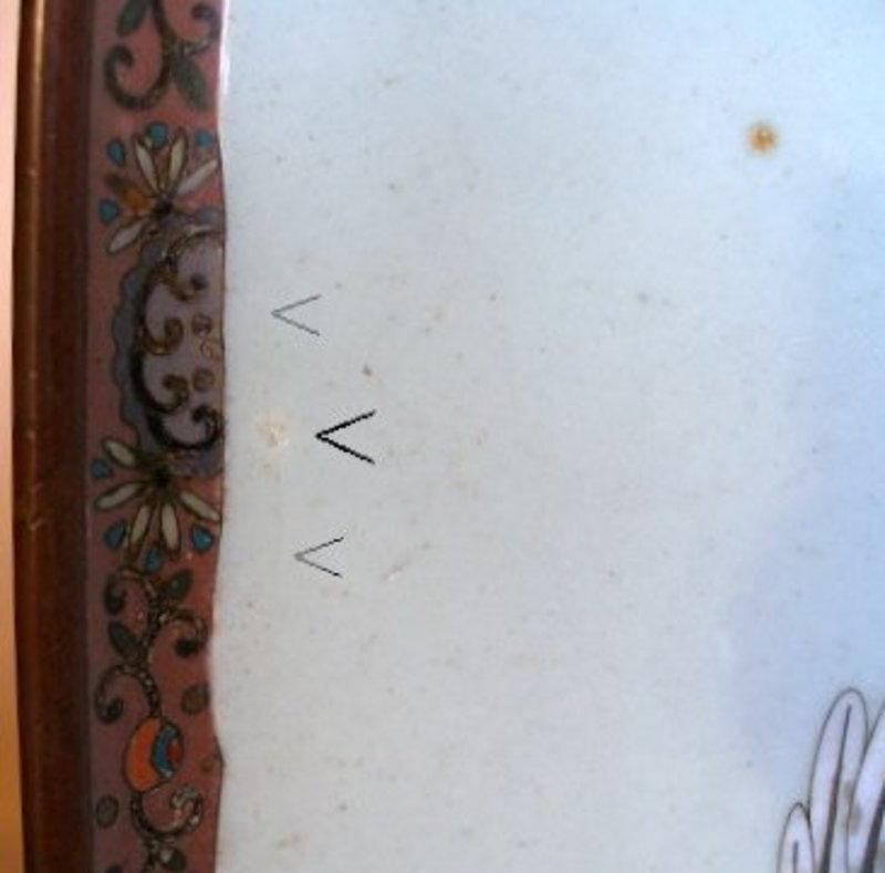Signed Japanese Cloisonne Tray