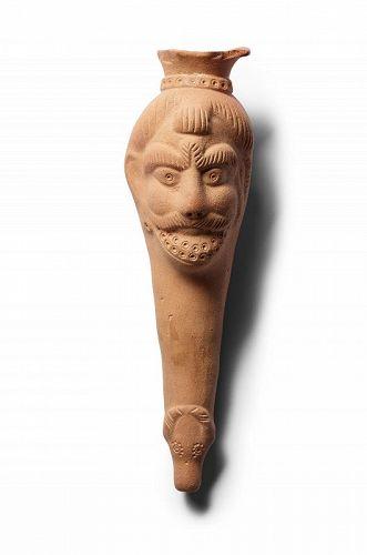 Terracotta Bacchus Rhyton